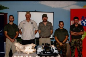 Dr William folds with Mike Veale from Global Conservation Force