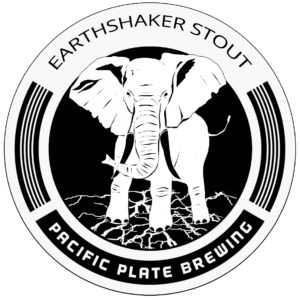 Pacific Plate Brewing Co Earthshaker Stout logo